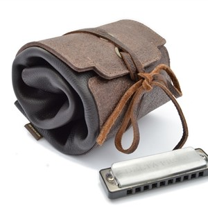 leather harmonica case