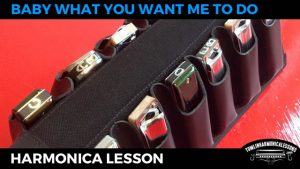 Baby What You Want Me To Do by Jimmy Reed Blues Harmonica Lesson on A Harmonica + Free Harp Tab